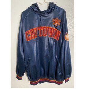 Vintage 1992 Fubu Chi Town Navy Pullover Hoodie XL